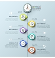 Business timeline infographic template vector image