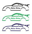car body silhouette for your commercial use eps10 vector image vector image