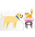 cat and dog characters best happy friends flat vector image vector image