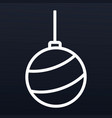 christmas tree ball icon outline style vector image