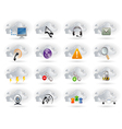 Cloud networking icons set