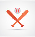 colored baseball icon vector image vector image