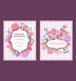 colorful wedding invitation cards vector image vector image