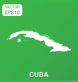 Cuba map icon business concept cuba pictogram on vector image