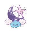 cute moon cartoon vector image vector image