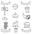 Doodle of thanksgiving set object vector image vector image