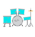 drum set icon musical instrument vector image vector image
