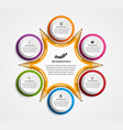 Education pencil Infographics design template vector image vector image