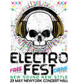 electro fest music poster design vector image