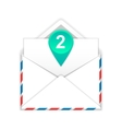 Envelope with two messages flat icon vector image