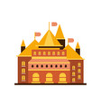 fairytale royal castle or palace building with vector image vector image
