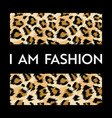 fashion design print with leopard pattern african vector image vector image