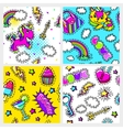 Fashion Seamless Patterns Collection vector image vector image