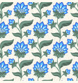 floral seamless pattern jacobean style flowers vector image vector image