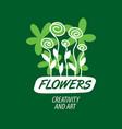 flower logo vector image vector image