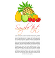 fruity text template vector image vector image
