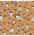 Funny birds seamless pattern for your design vector image