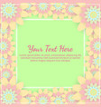 greeting card with colored flowers invitation vector image vector image