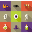 Halloween Squared Flat Icons Set 3 vector image vector image