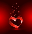 heart in red background vector image vector image