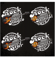 icons with guitars and various inscriptions vector image vector image