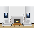 interior room with fireplace vector image
