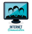 internet connection community group vector image vector image
