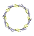 Lavender round frame wreath vector image vector image