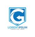 letter g arrow icon logo design template vector image vector image