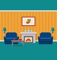 living room with fireplace graphic vector image