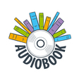 logo are many books on cd vector image