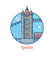 london bridge icon vector image vector image