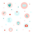 medicine and healthcare flat icons set vector image