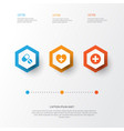 medicine icons set collection of heal plus vector image vector image