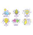 mind energy original logo design templates vector image