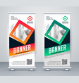 modern standee rollup presentation banner vector image vector image