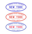 new york oval postmark vector image