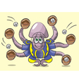 Octopus - the catcher vector image