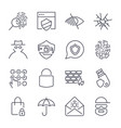of 16 web safety icons vector image
