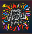 party flyer frame template holi festival banner vector image vector image