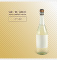 photorealistic bottle white sparkling wine on a vector image