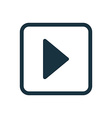play icon Rounded squares button vector image