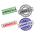 scratched textured amnesia stamp seals vector image