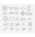 set geometric trendy hipster elements shapes vector image vector image