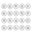 set round line icons of hygiene vector image
