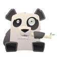 strange panda vector image vector image