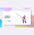 technical support service website landing page vector image vector image