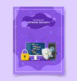 technology network security people around big vector image vector image