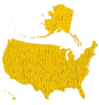 Textured map of USA vector image vector image