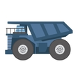 tipper construction industry vehicle vector image vector image
